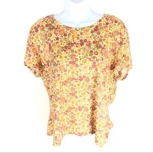 J. Jill 100% Pima Cotton Floral Top XL